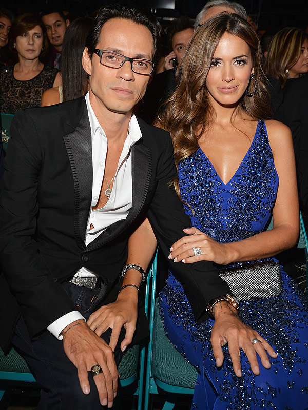 Marc Anthony and Shannon de Lima Latin Grammys