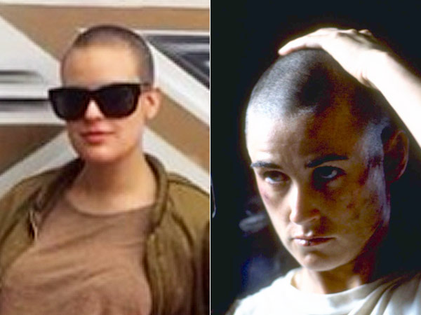 Tallulah Willis shaved head