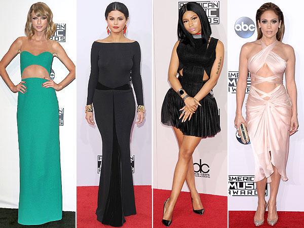 Taylor Swift, Selena Gomez, Nicki Minaj, Jennifer Lopez AMAs