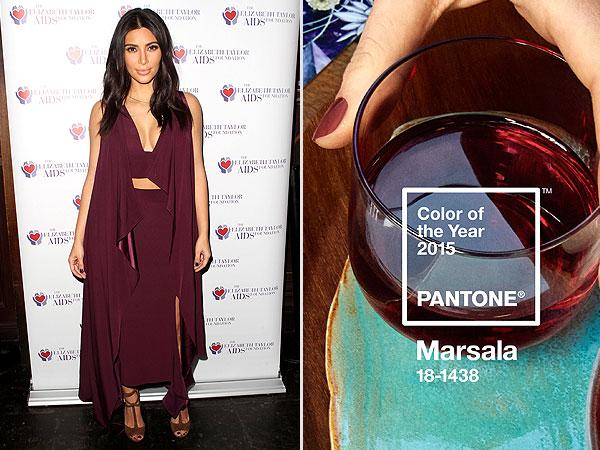 Pantone Marsala and Kim Kardashian