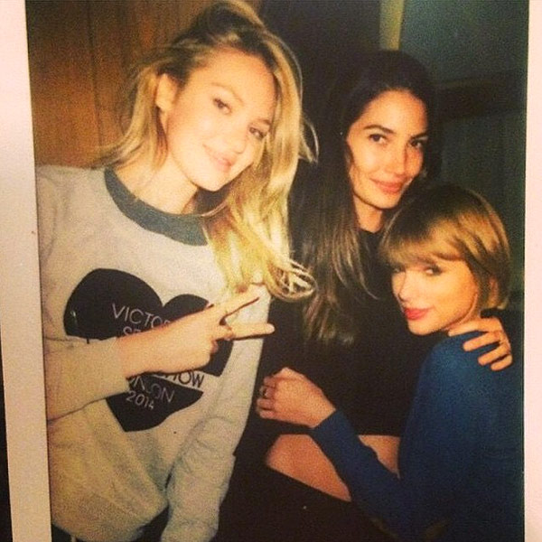 Victoria Secret models and Taylor Swift