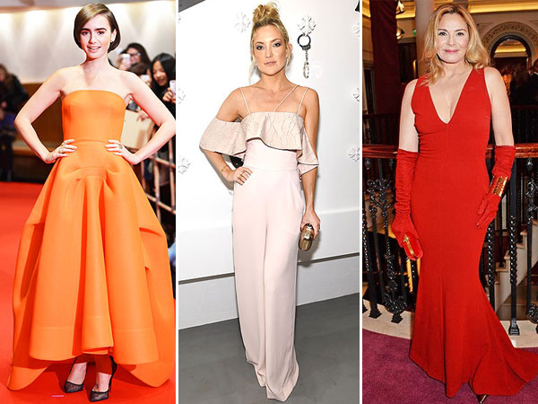 Lily Collins orange dress, Kate Hudson Jumpsuit and more red carpet style