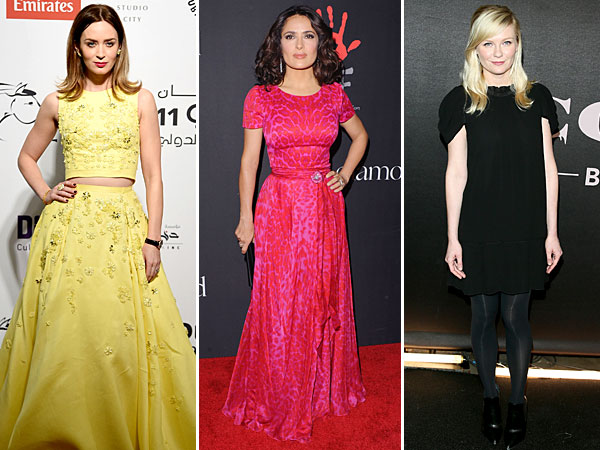 Emily Blunt, Salma Hayek and Kirsten Dunst style