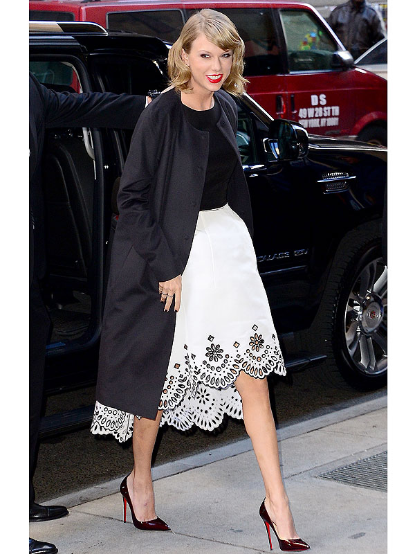 Taylor Swift Coat Billboard Luncheon