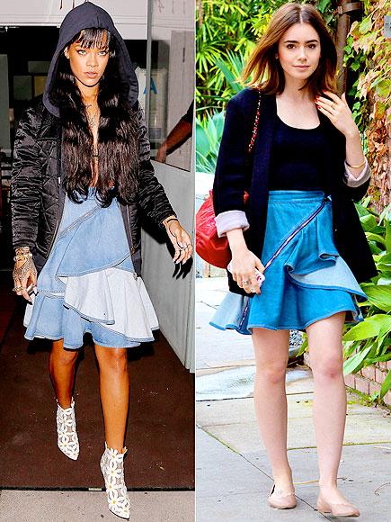 RIHANNA VS. LILY  photo | Lily Collins, Rihanna