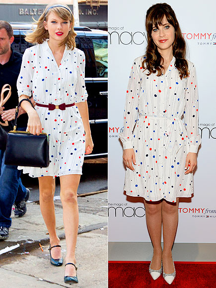 TAYLOR VS. ZOOEY  photo | Taylor Swift, Zooey Deschanel