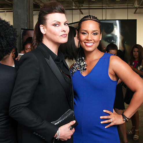 LINDA EVANGELISTA & ALICIA KEYS