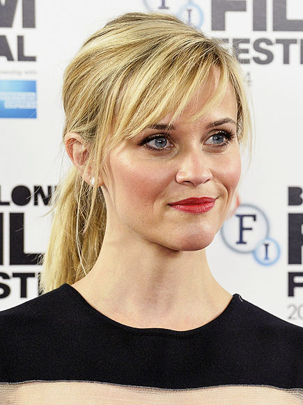 THE LOW, SIDE-PARTED PONYTAIL photo | Reese Witherspoon