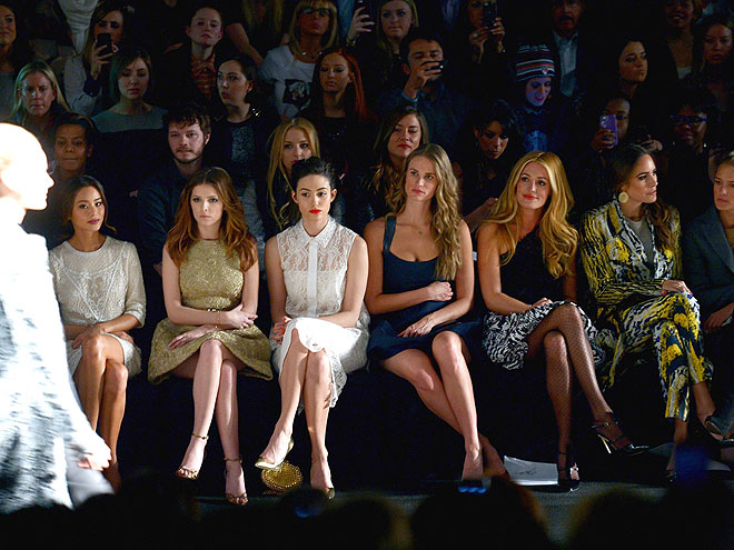STARS AT MONIQUE LHUILLIER photo | Anna Kendrick, Cat Deeley, Emmy Rossum, Jamie Chung, Louise Roe