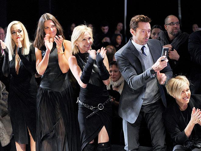 FRONT ROW AT DONNA KARAN photo | Rita Ora, Deborra-Lee Furness, Hugh Jackman, Katie Holmes, Trudie Styler