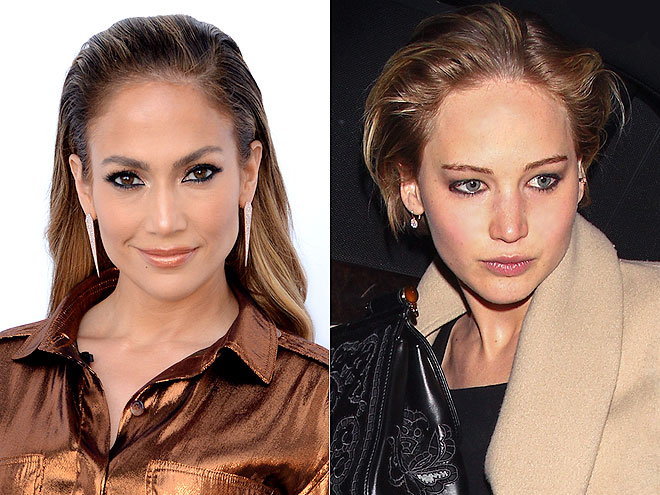 COMBED-BACK, BUT NOT SLICKED-BACK HAIR photo | Jennifer Lawrence, Jennifer Lopez