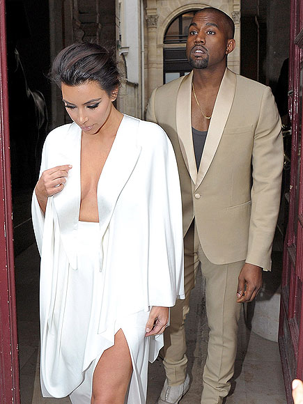 Kim and Kanye's Matchy-Matchy Couple Style