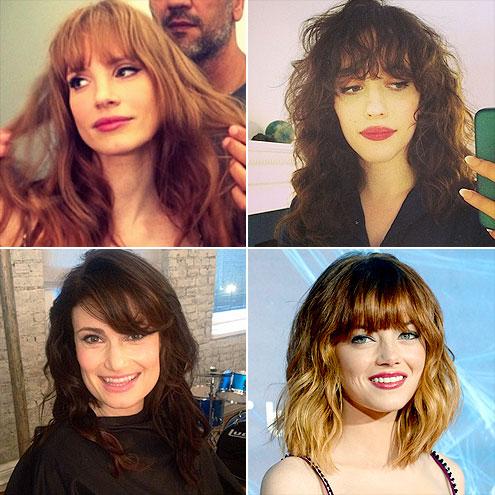 CONSIDER BANGS photo | Emma Stone, Idina Menzel, Jessica Chastain, Kat Dennings