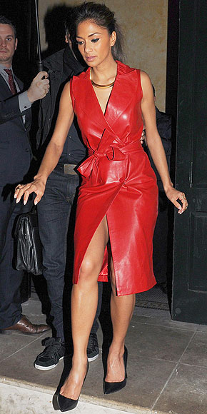 LEATHER WRAP DRESSES photo | Nicole Scherzinger