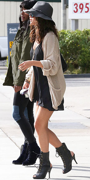 PEEP-TOE & PEEP-HEEL BOOTIES photo | Selena Gomez
