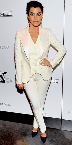 THREE-PIECE SUITS (ON LADIES) photo | Kourtney Kardashian