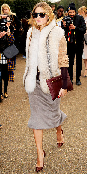 FUR PENCIL SKIRTS photo | Olivia Palermo