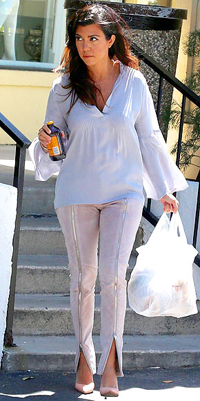 ZIP-FRONT PANTS photo | Kourtney Kardashian