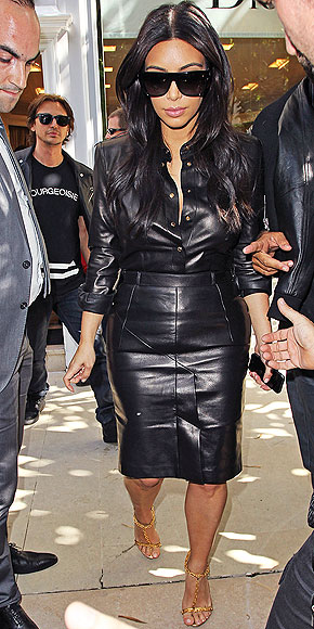 LEATHER ON LEATHER photo | Kim Kardashian