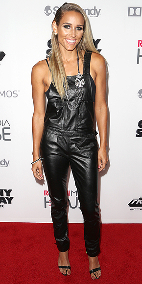 LEATHER OVERALLS photo | Lolo Jones