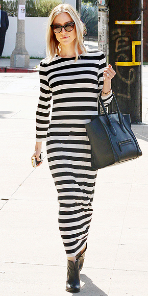 JAILHOUSE-STRIPE MAXI photo | Kristin Cavallari