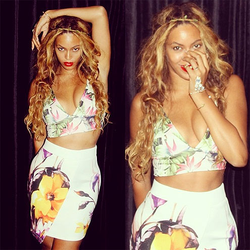 CLASHING FLORALS photo | Beyonce Knowles