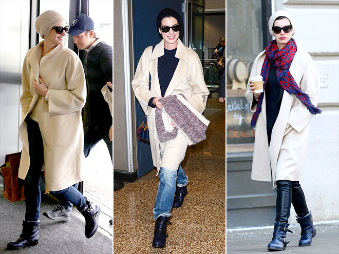 MAX MARA COAT  photo | Anne Hathaway