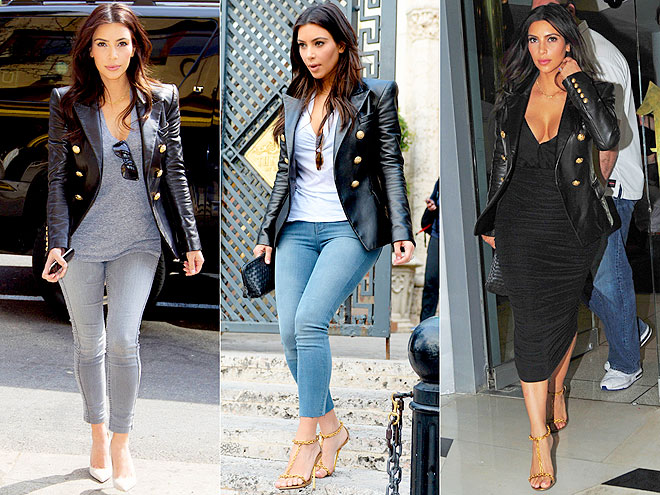 BALMAIN JACKET  photo   Kim Kardashian