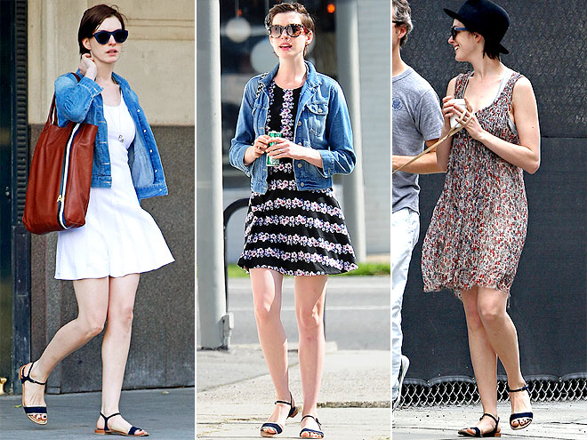 STUART WEITZMAN SANDALS  photo | Anne Hathaway
