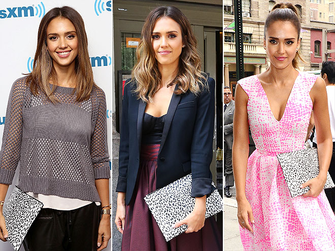 SAINT LAURENT CLUTCH photo | Jessica Alba