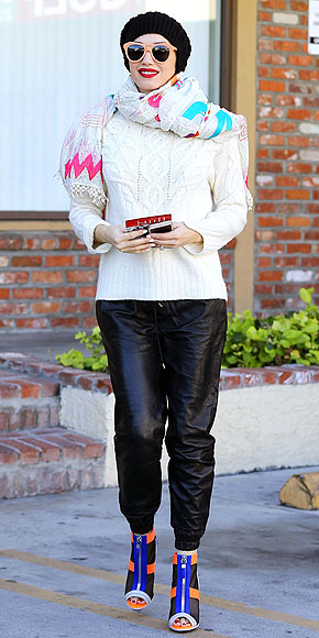 GWEN STEFANI'S LEATHER PANTS