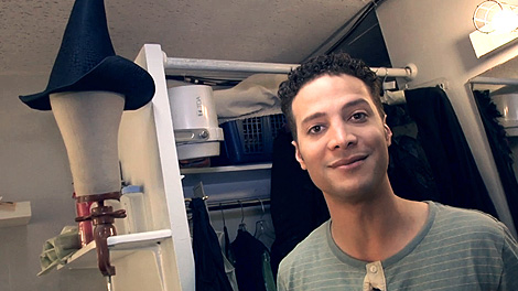 Justin Guarini Takes PEOPLE Backstage at Wicked