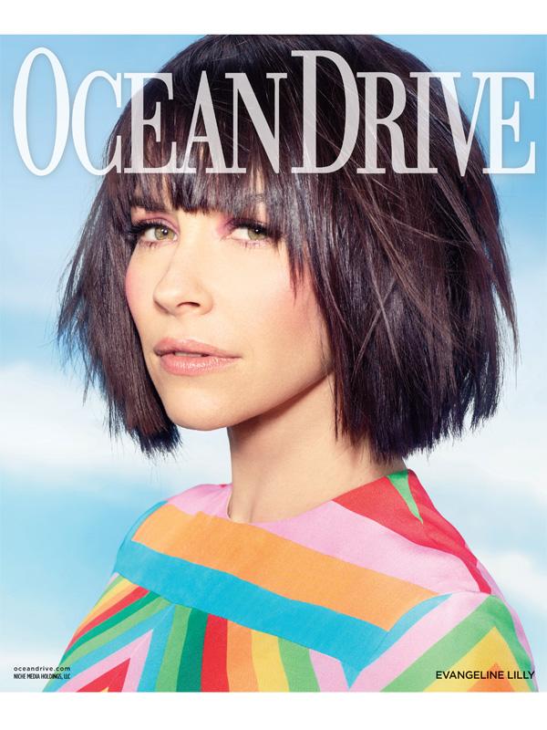 Evangeline Lilly Ocean Drive magazine