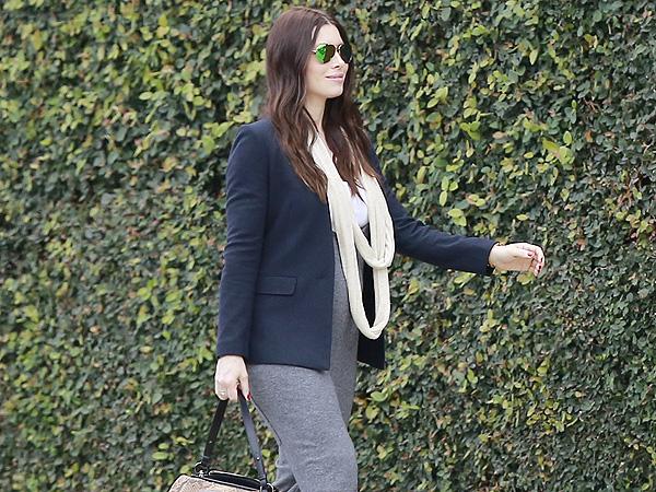 Jessica Biel Hatch maternity jumpsuit