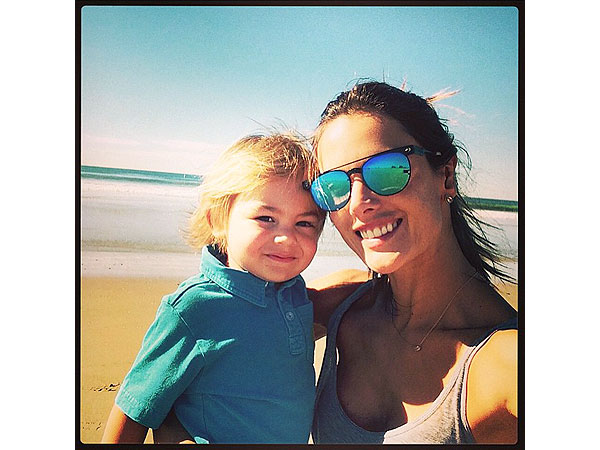 Alessandra Ambrosio Son Johnnie-O shirt Instagram