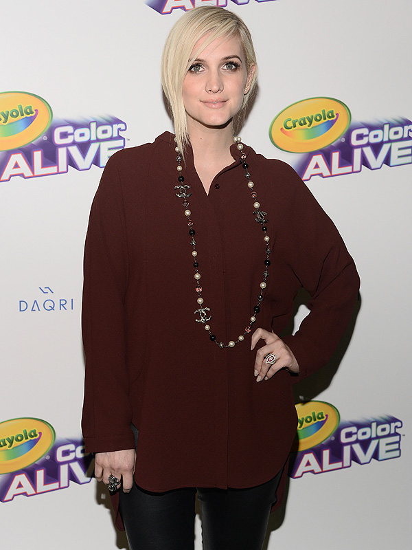 Ashlee Simpson Crayola Color Alive launch