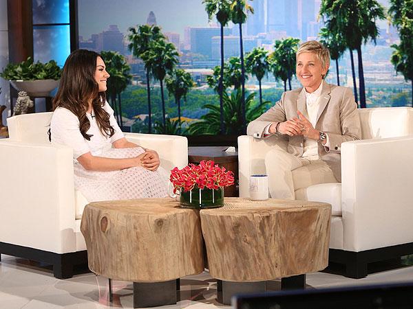 Mila Kunis Ellen DeGeneres