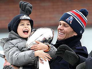 Tom Brady's Son Benjamin Couldn't Be Cuter at the Patriots' Super Bowl Parade (PHOTOS) | Tom Brady