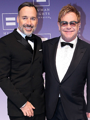 Elton John David Furnish Son Breaks Bone