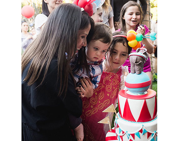 Soleil Moon Frye son's circus carnival birthday