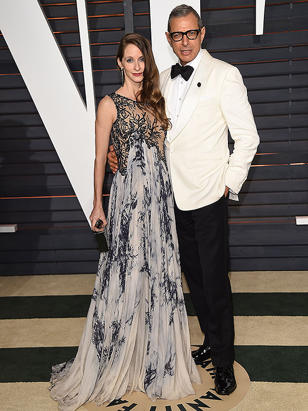 Jeff Goldblum wife pregnant Oscars 2015