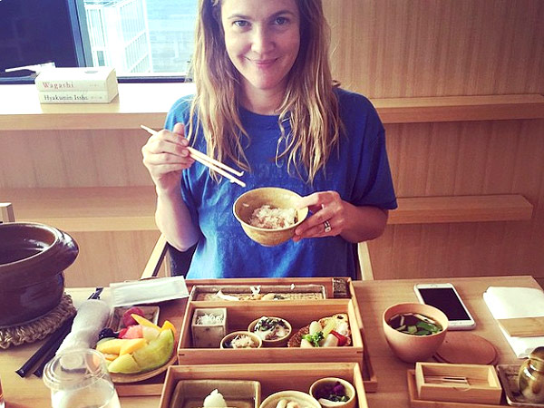 Drew Barrymore Gives I... Drew Barrymore Instagram