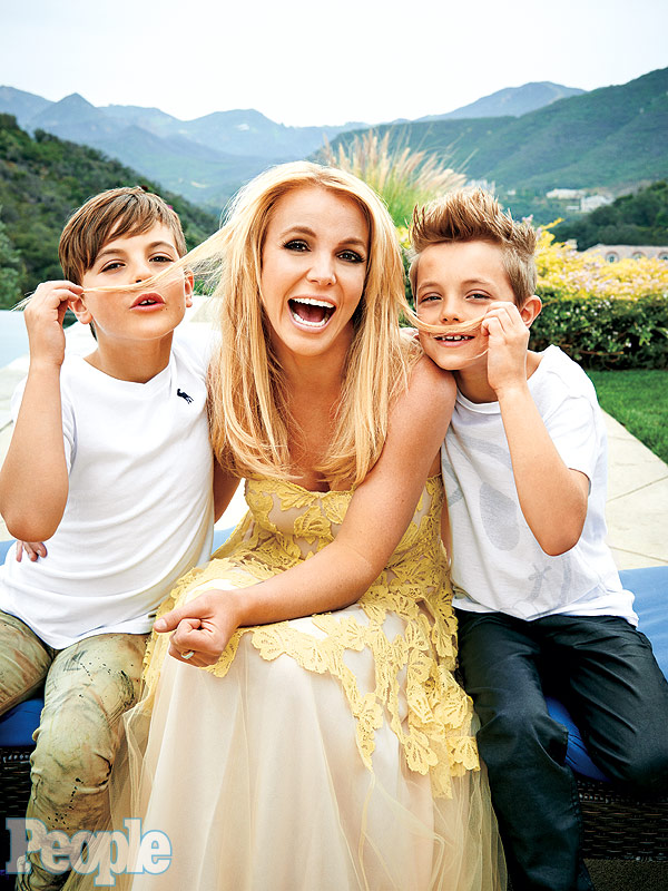 Image result for britney happy with her sons