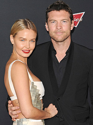 Sam Worthington Lara Bingle Welcome Son