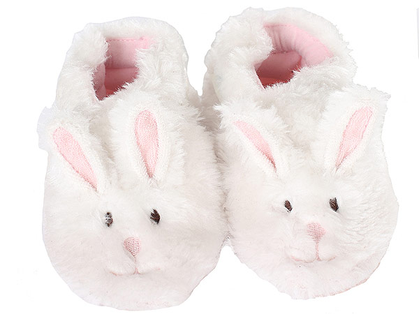 Easter bunny baby slippers