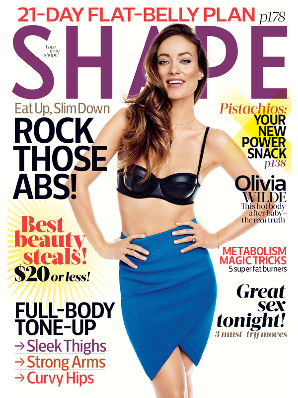 Olivia Wilde Shape Magazine Cover Body After Baby