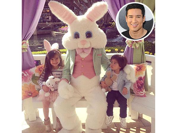 Mario Lopez kids Easter bunny