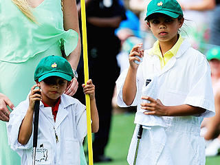 Cutest Caddies! See Tiger Woods's Kids Carrying His Clubs