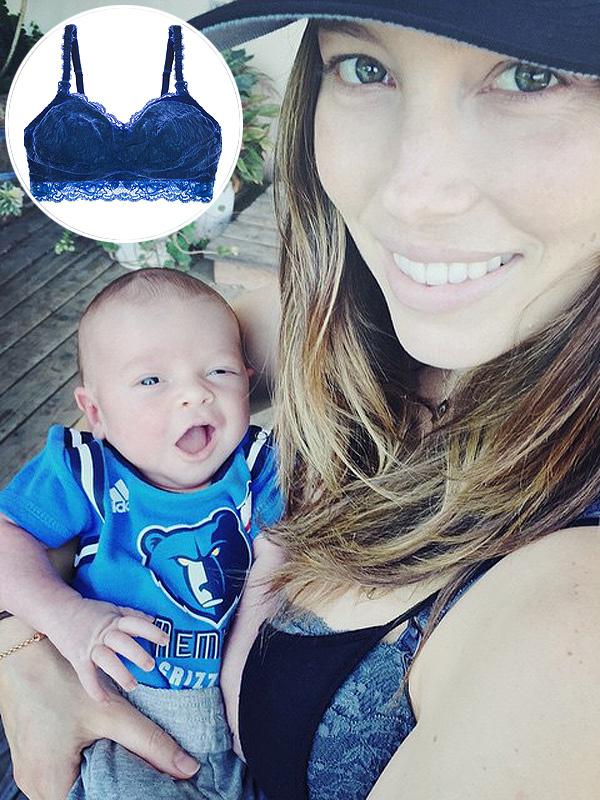 Jessica Biel Cosabella nursing bra