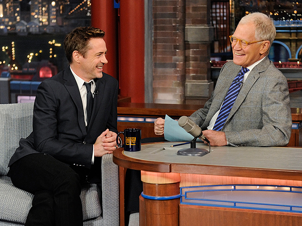 Robert Downey Jr daughter Avri Roel Late Show David Letterman
